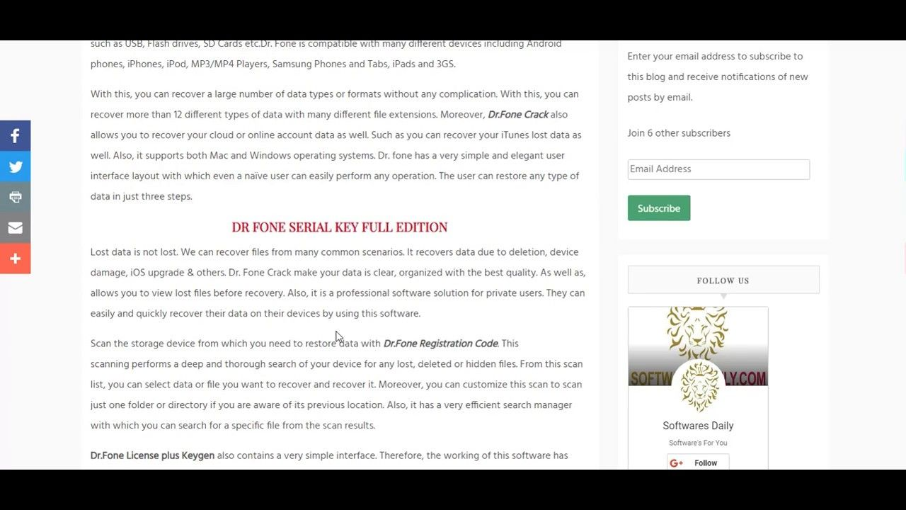 dr fone licensed email and registration code free