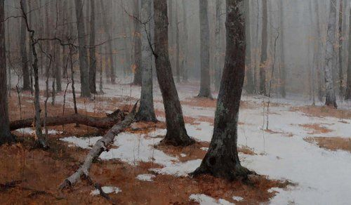 The Release of Winter, oil on linen, 24 x 40 in.
