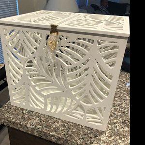 Personalized Wedding Card Box-Plywood box-Keepsake Box-Wedding money box with date&names-Wedding card money holder-White Card Holder-Gift