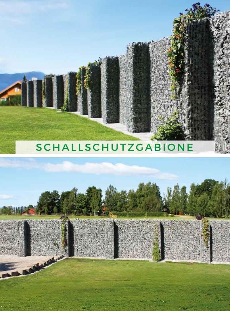 Sichtschutz Garten Ideen Terrando Schallschutzgabione Gabionen Mauer Sichtschutz Garten Gabionen Gartengestaltung