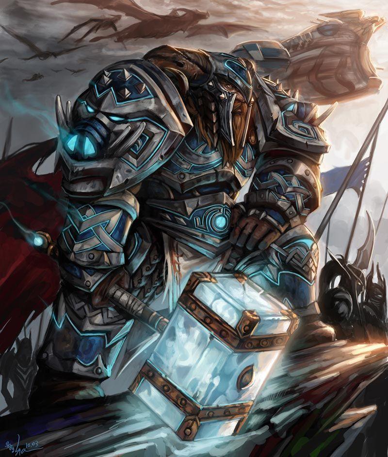 Dwarf (paladin in the ice wars chaos magick) | Warcraft art, Fantasy dwarf, Dwarf paladin