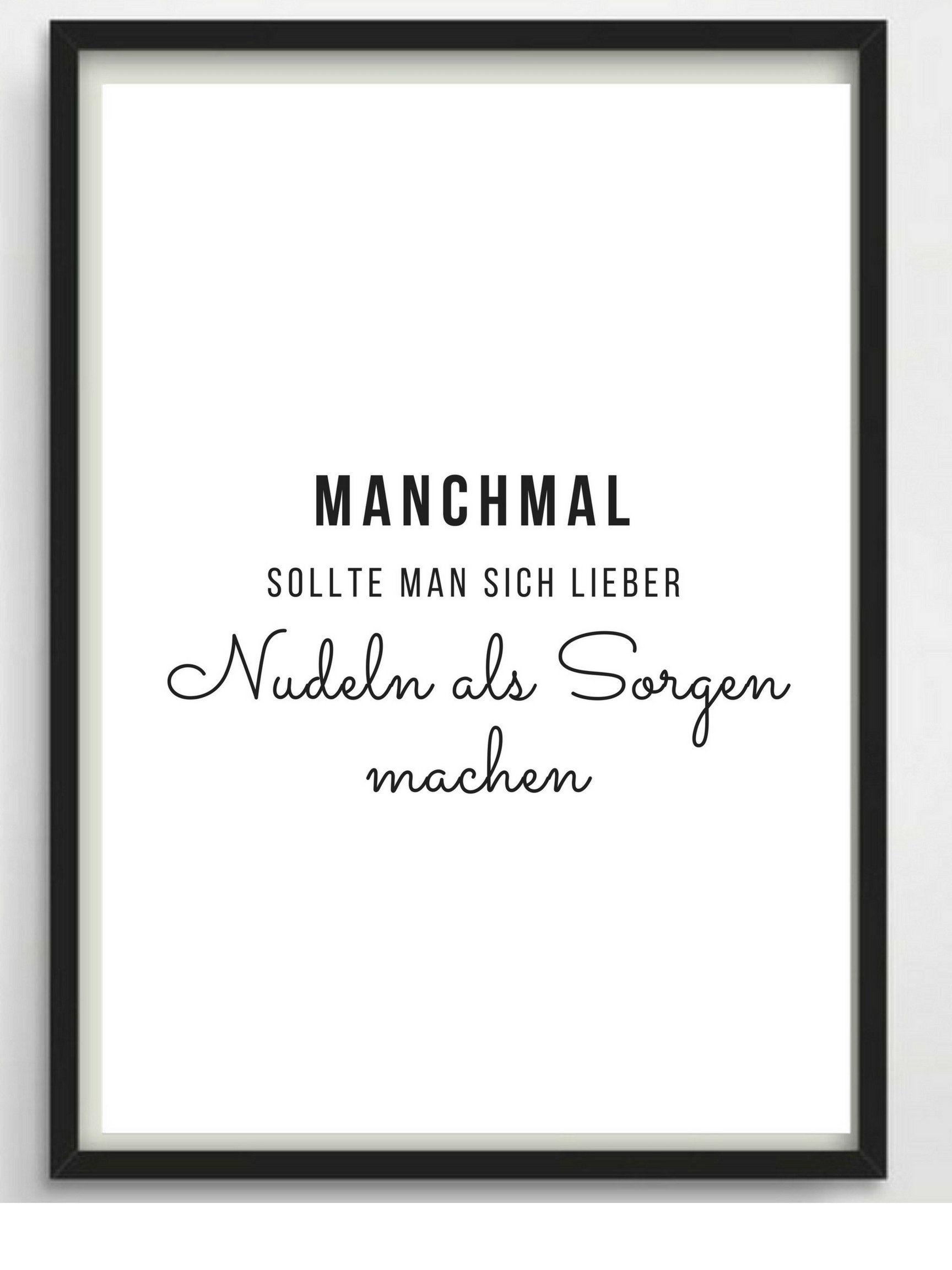 Poster A4 Nudeln Fur Kuche Oder Als Geschenk Etsy Words Quotes True Words