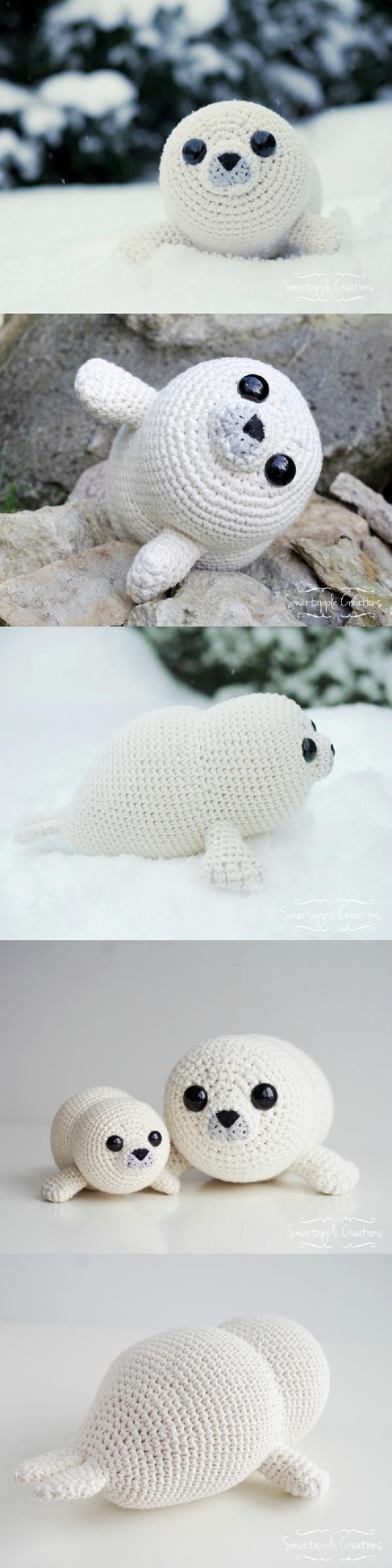 Bubbly The Baby Seal Amigurumi Pattern | 52 arigurumi of the year ...