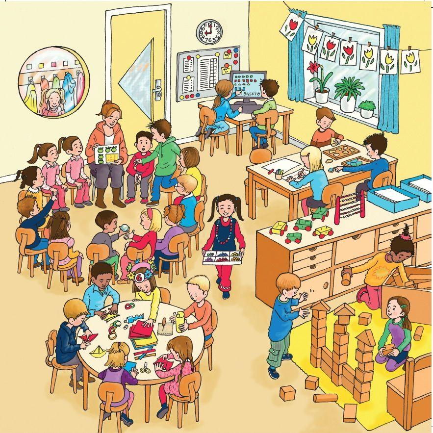 En el aula | ilustraciones para describir | Educacion ...