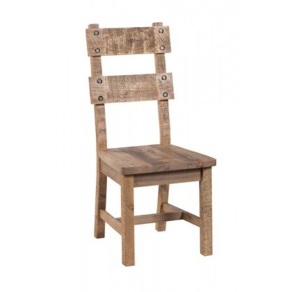 Gladstone Reclaimed Pine Dining Chair Seat Height 18 Inch