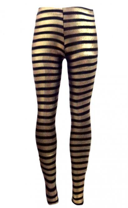 3ca8aaec7d0ed Shiny Black And Gold Stripe Leggings   Wholesale Leggings   Leggings ...