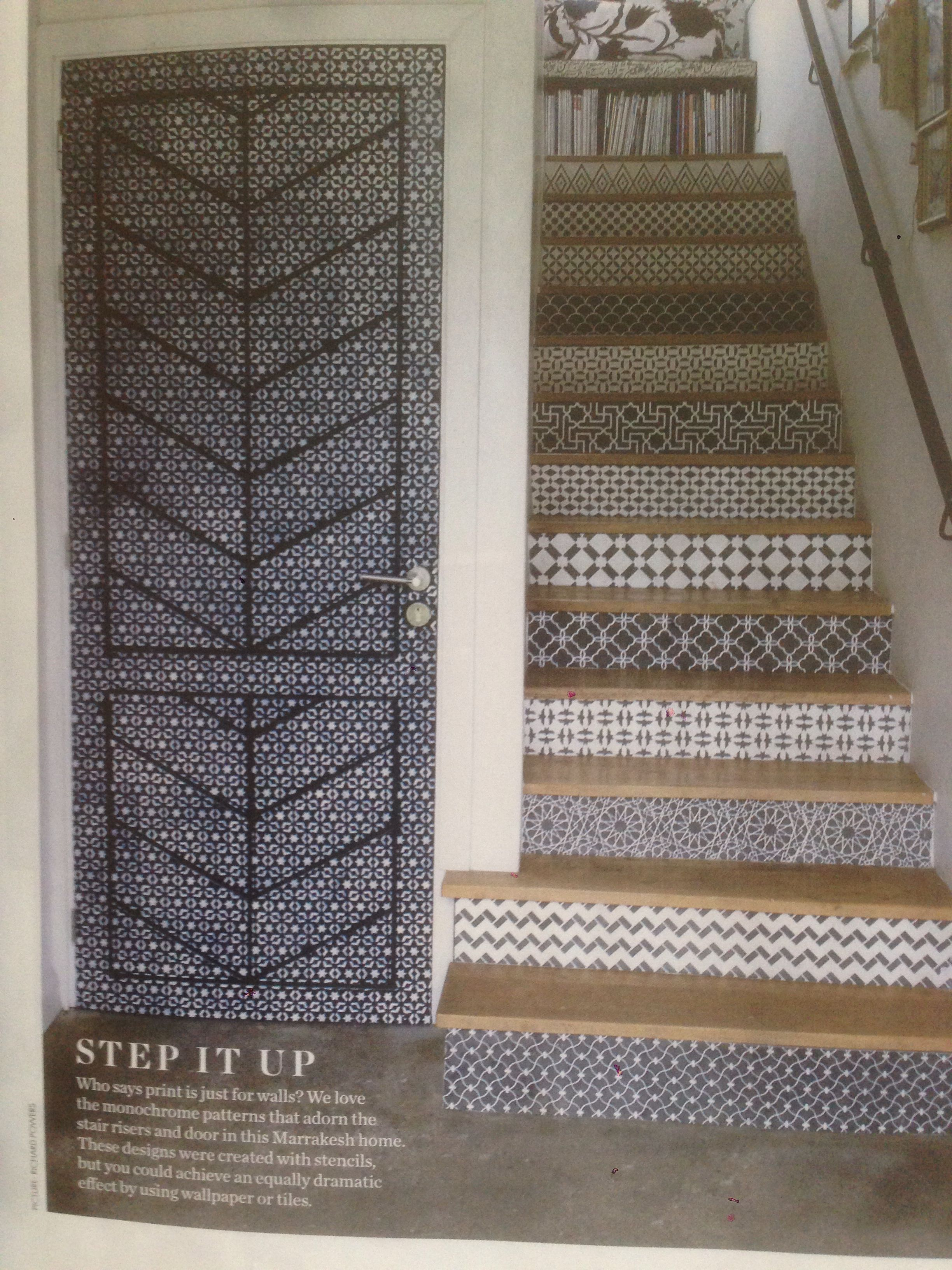 Elle Decoration May 14 Staircase Design Tiled Staircase House Styles