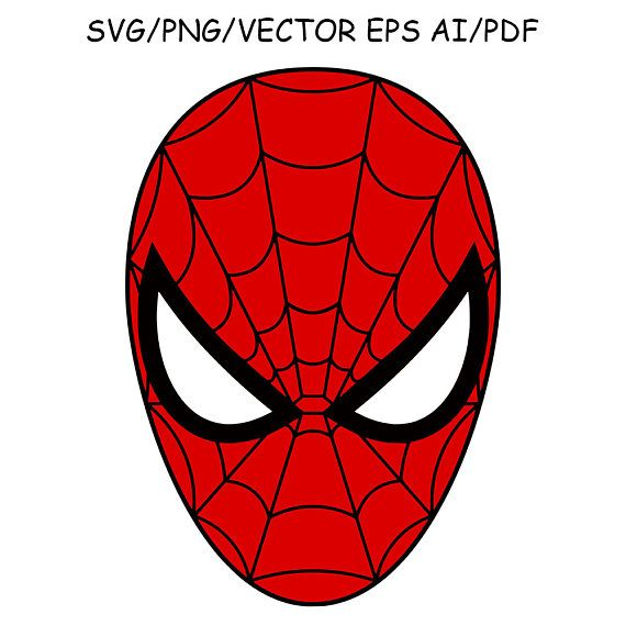 Spiderman Mask SVG DXF Spiderman Clipart Vector Cut File