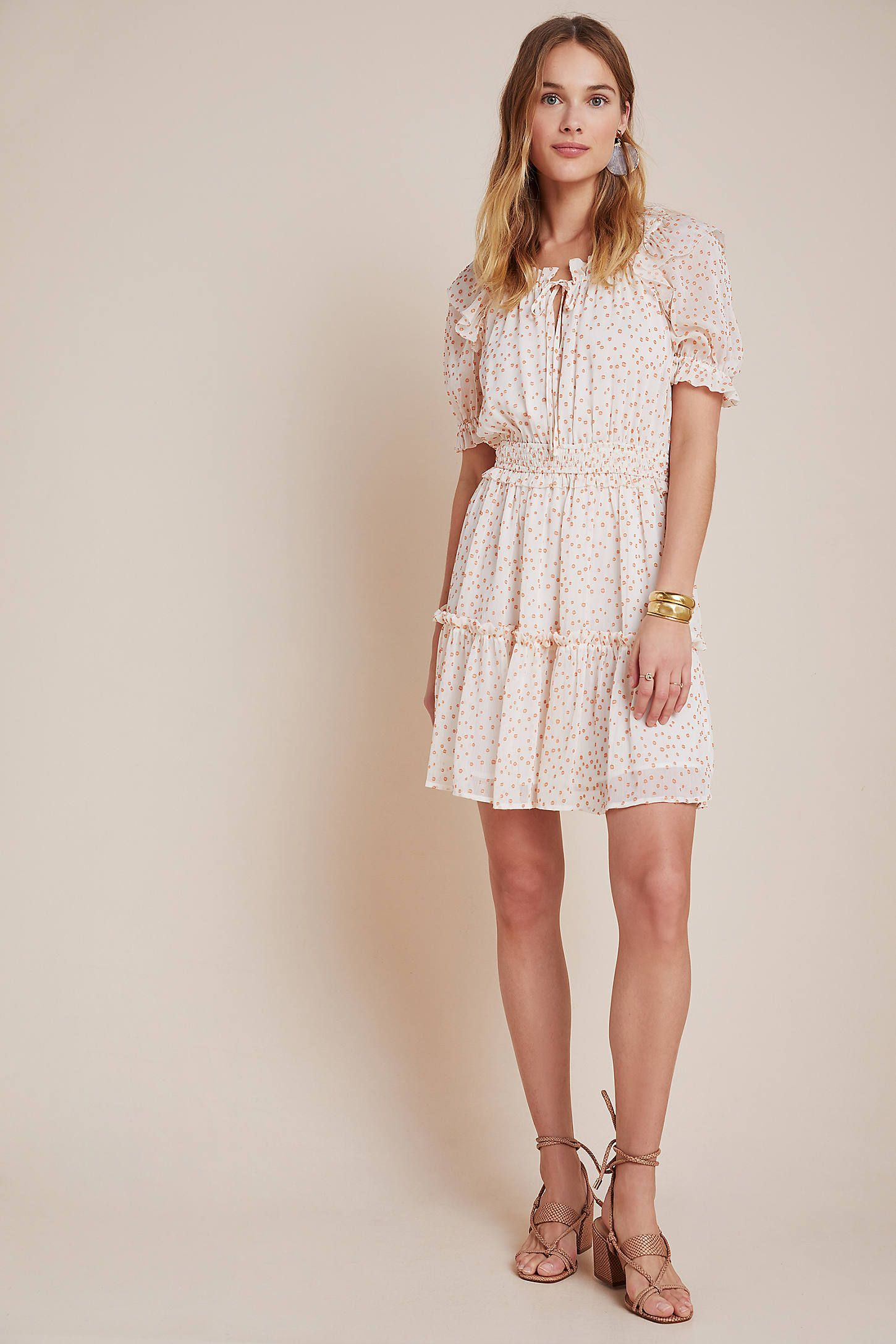 Dawna Tiered Mini Dress By Current Air In White Size Xs Women S Dresses At Anthropologie Mini Dress Unique Dresses Online Dress Shopping Sites [ 2175 x 1450 Pixel ]