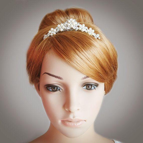 Victorian Style Wedding Hair: TASHA Victorian Style Wedding Tiara Swarovski By