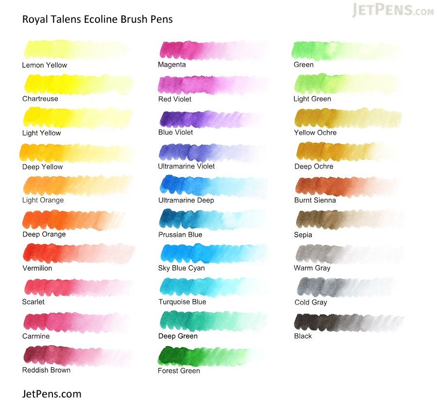 talens eoline brush pen | Royal Talens Ecoline Watercolor Brush Pen ...