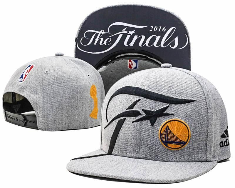 37f11caa7c0 Mens Adidas NBA Finals Golden State Warriors Locker Room 2016 The Finals  Official SnapBack Hat - Grey
