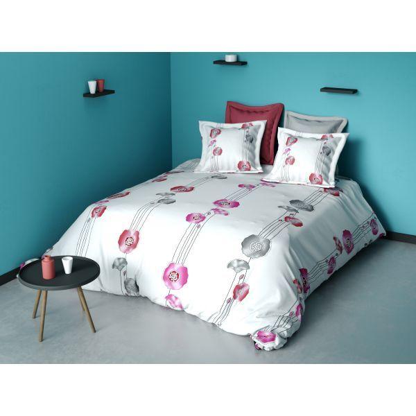 parure de couette coton fleur rose 220x240 cm 29 90 housse de couette fleur rose parure
