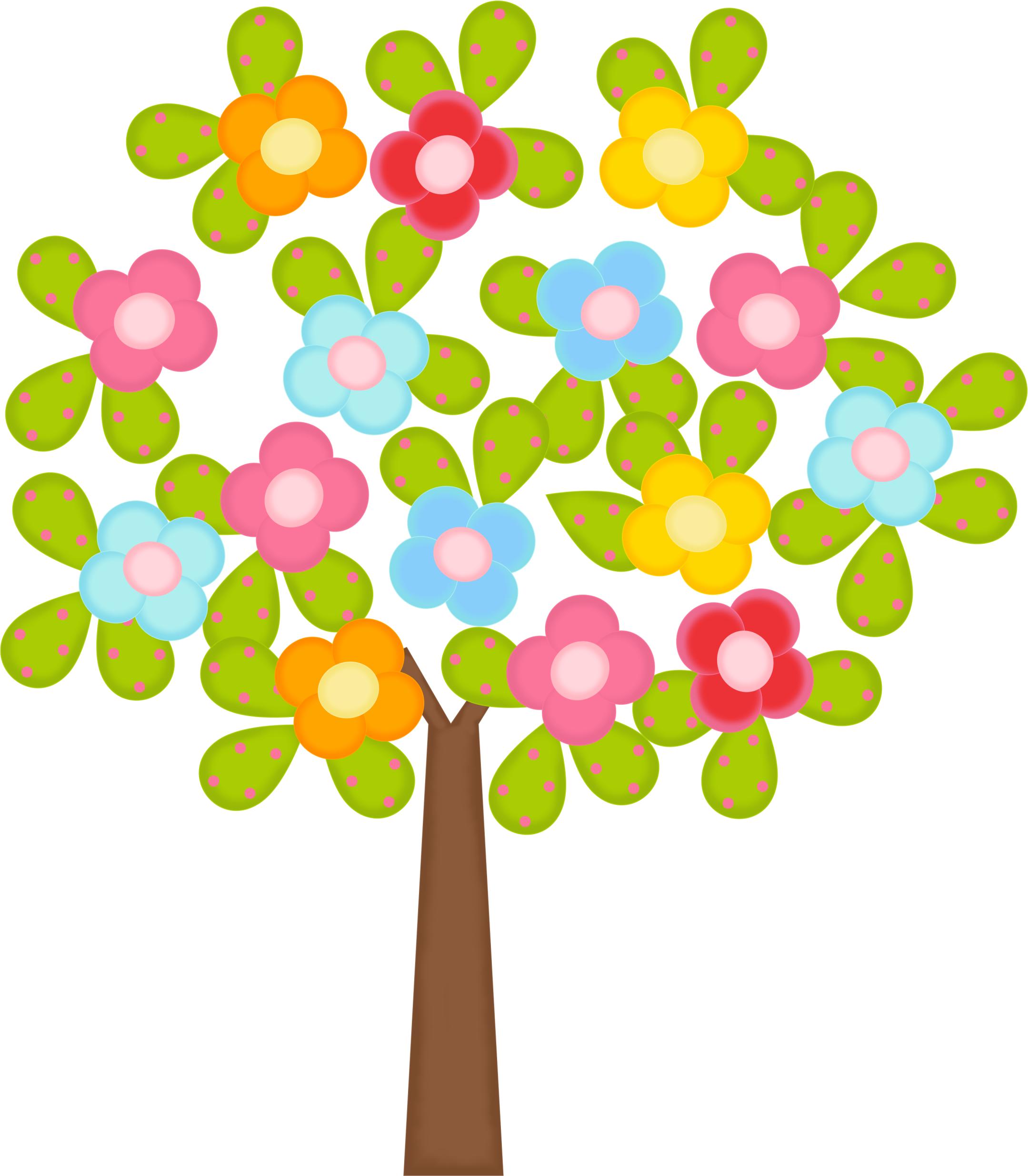 Flowers Tree Png Clipart Bebe Clipart De Flores Adesivos