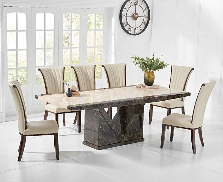 Incredible Tenore 180Cm Marble Effect Dining Table With Alpine Chairs Gamerscity Chair Design For Home Gamerscityorg