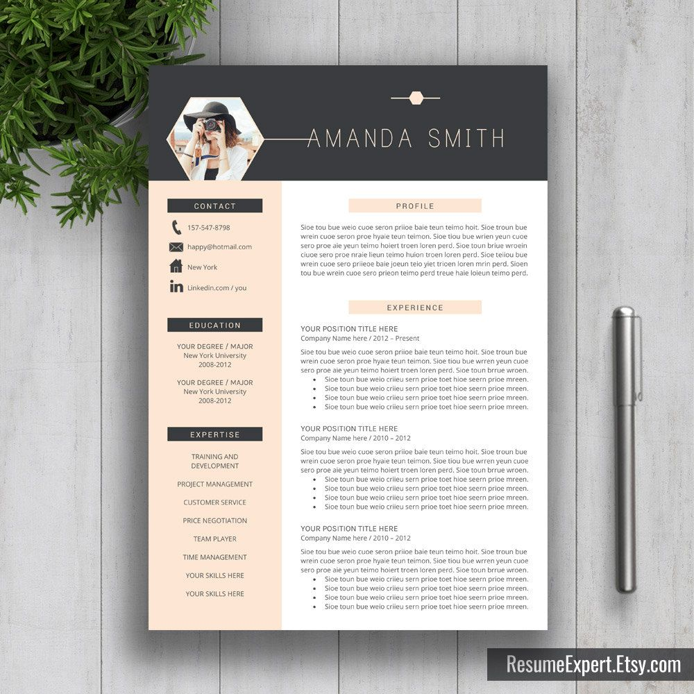 Modern Resume Template Us Letter A Cover Letter By Resumeexpert