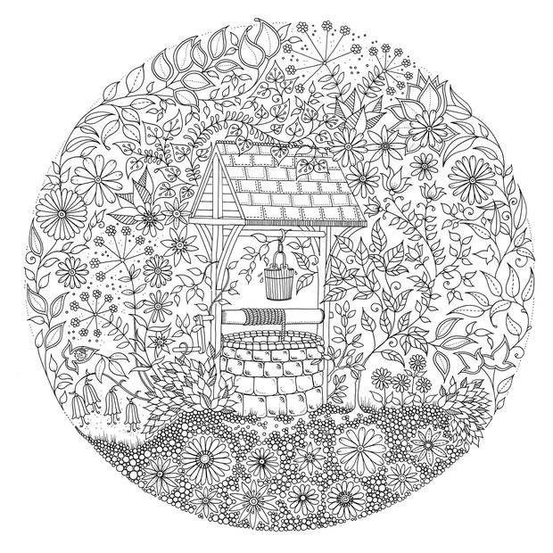 Secret Garden Coloring Book Colouring PagesAdult