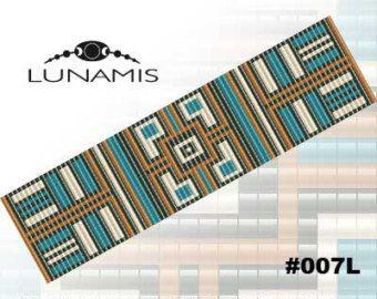 Loom bracelet pattern loom pattern square por LunamisBeadsPatterns
