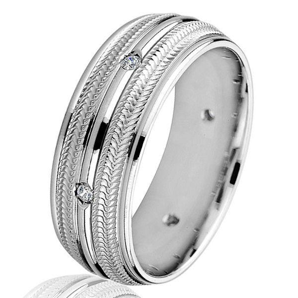 18Kt White Gold Contemporary Diamond Ring   www.weddingbands.com   @Wedding Bands