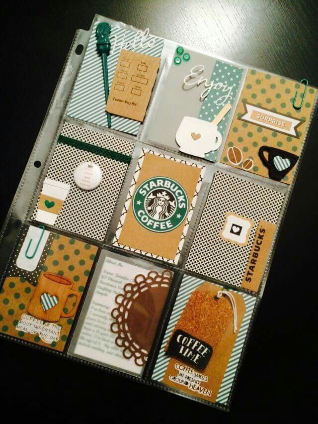 Starbucks Scrap Project Life Pinterest Starbucks, Project life