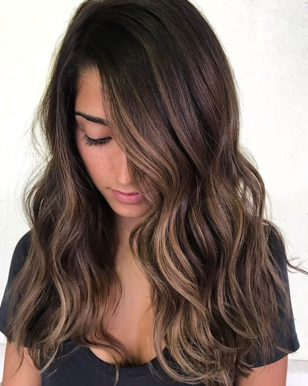 60 Hairstyles Featuring Dark Brown Hair With Highlights Hair Highlights Brown Hair With Highlights Brunette Hair Color