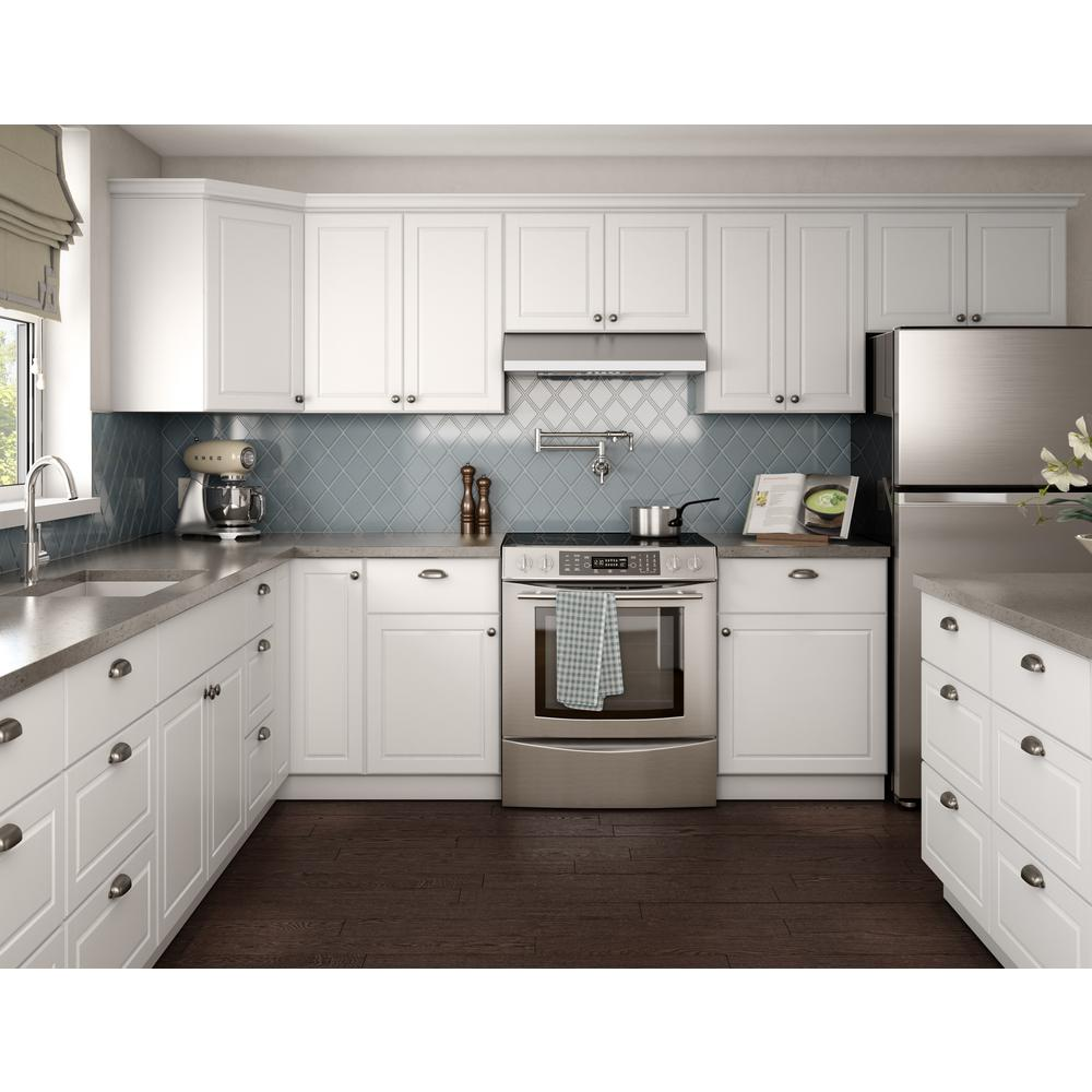 Hampton Bay Ready To Assemble 48x13 5x11 25 In Flex Wall Shelf In Warm White Wfs4813 Tww The White Modern Kitchen White Kitchen Design Contemporary Kitchen