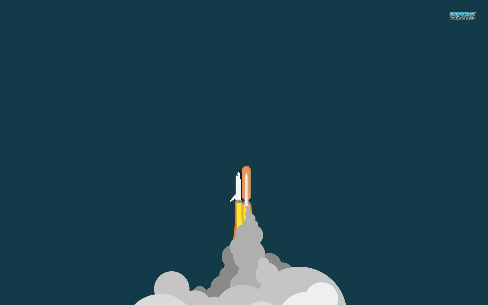 Space Shuttle Wallpaper Minimal Wallpaper Art Poster Design Wallpaper