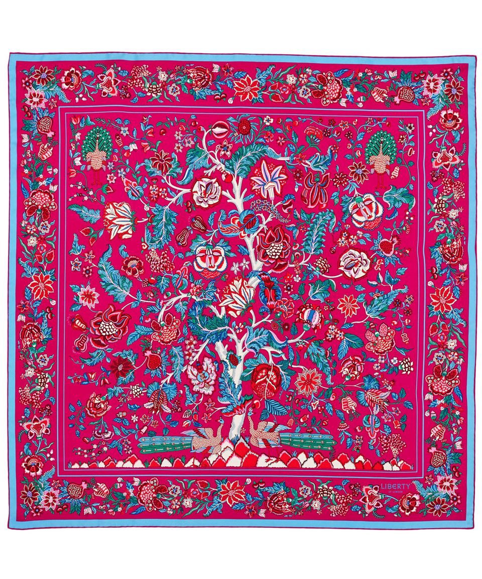 aa9a1d00e Liberty London Pink Tree of Life Silk Scarf | Silk Scarves by Liberty  London | Liberty.co.uk