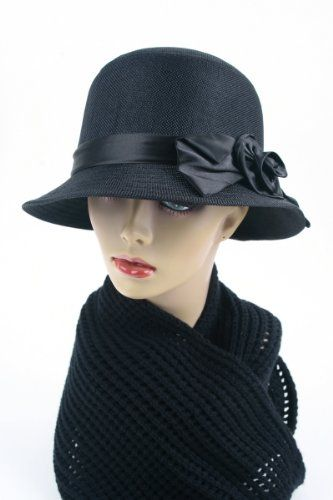 Womens Cloche Bucket Bell Bow Hat 128SH (Black) Pop Fashionwear, HATS to buy just click on amazon here http://www.amazon.com/dp/B00AAVT7K8/ref=cm_sw_r_pi_dp_FBzEsb1P1G2HWB81