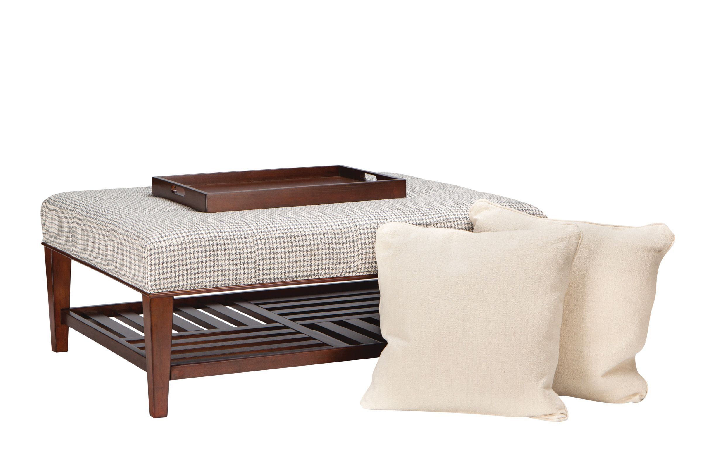Starlight Cocktail Ottoman with Accent Pillows Ottoman