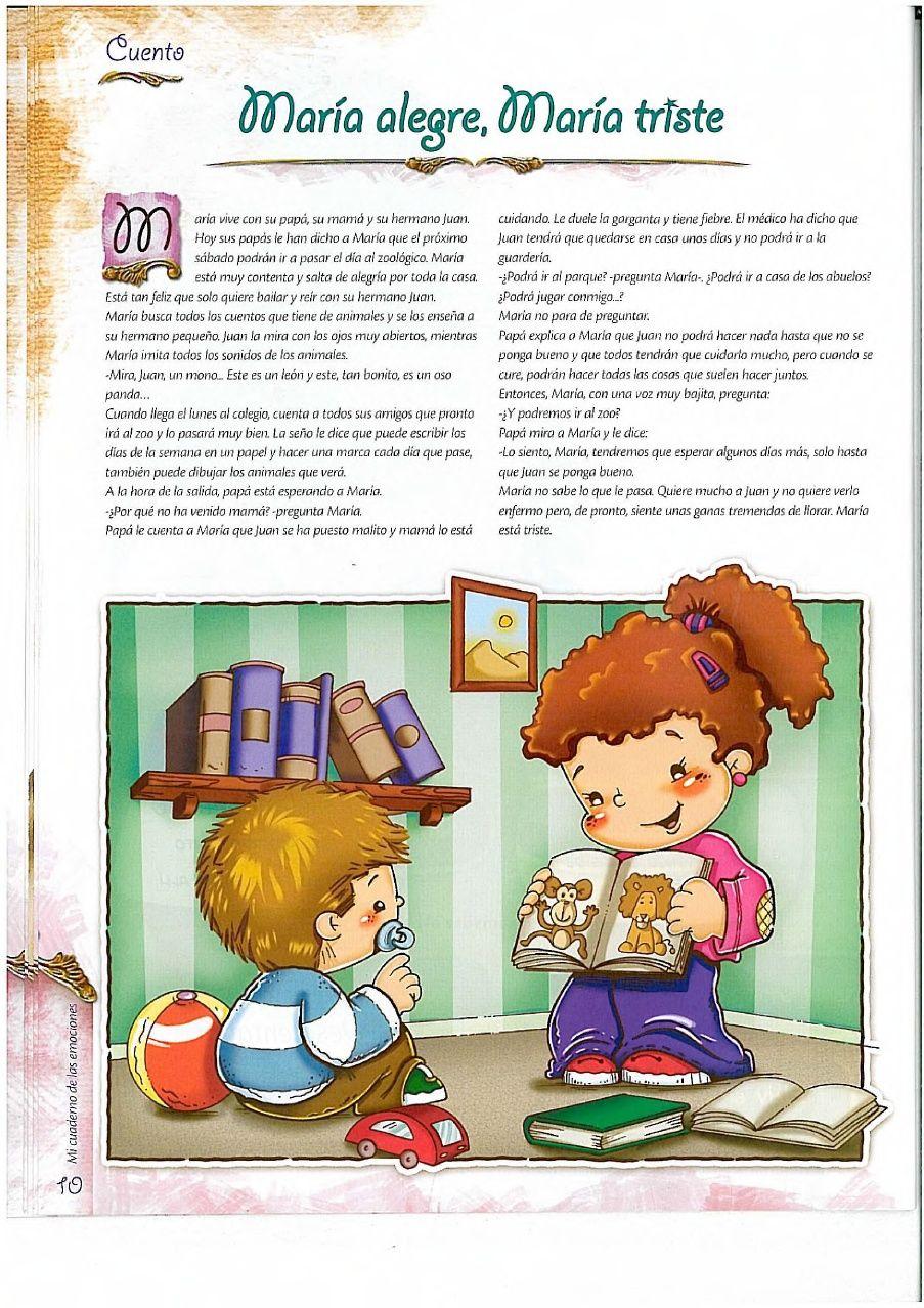 Cuaderno Emociones Cuentos Para Niños Gratis Historias Para Niños Lectura Cortas Para Niños