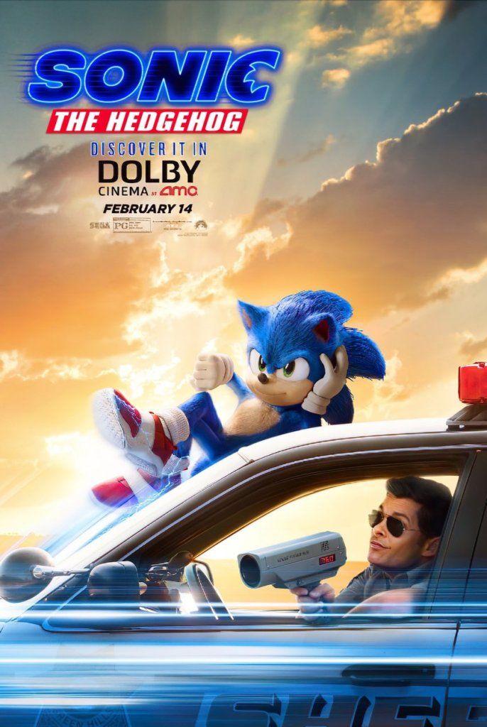 "Sonic The Hedgehog Poster 48x32/"" 40x27/"" 36x24/"" Movie Film 2019 Forces Print Silk"