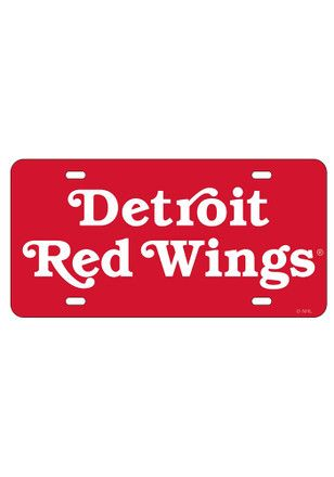 Detroit Red Wings Wordmark Inlaid Car Accessory License Plate ...