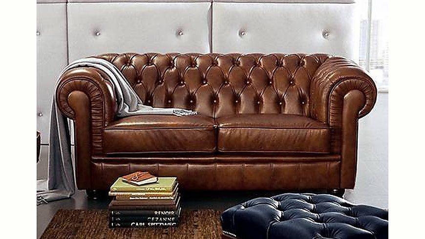 Max Winzer® Chesterfield 2-Sitzer Sofa »Kent« im Retrolook, mit ...