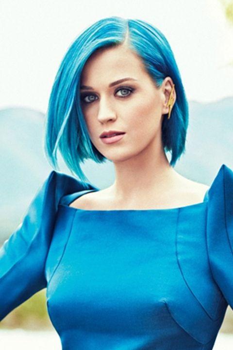 Katy Perry Blue Bob Katy Perry Blue Hair Katty Perry