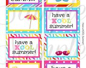 INSTANT DOWNLOAD End of the year Have a KOOL Cool Summer Card / Note  - Printable #EasyPin