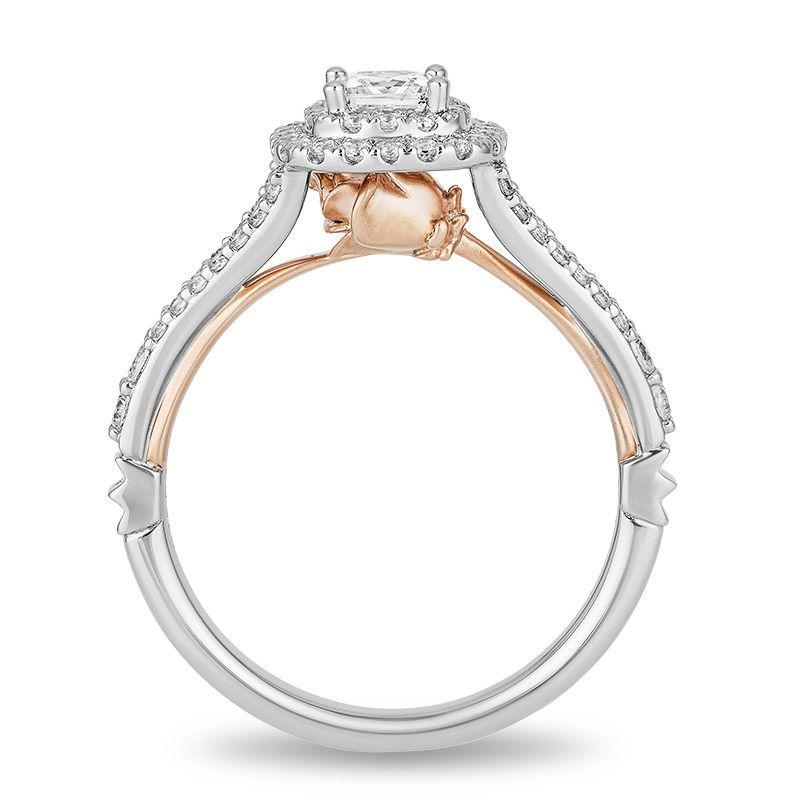 3423ec2858282 Enchanted Disney Belle 3/4 CT. T.w. Princess-Cut Diamond Double ...