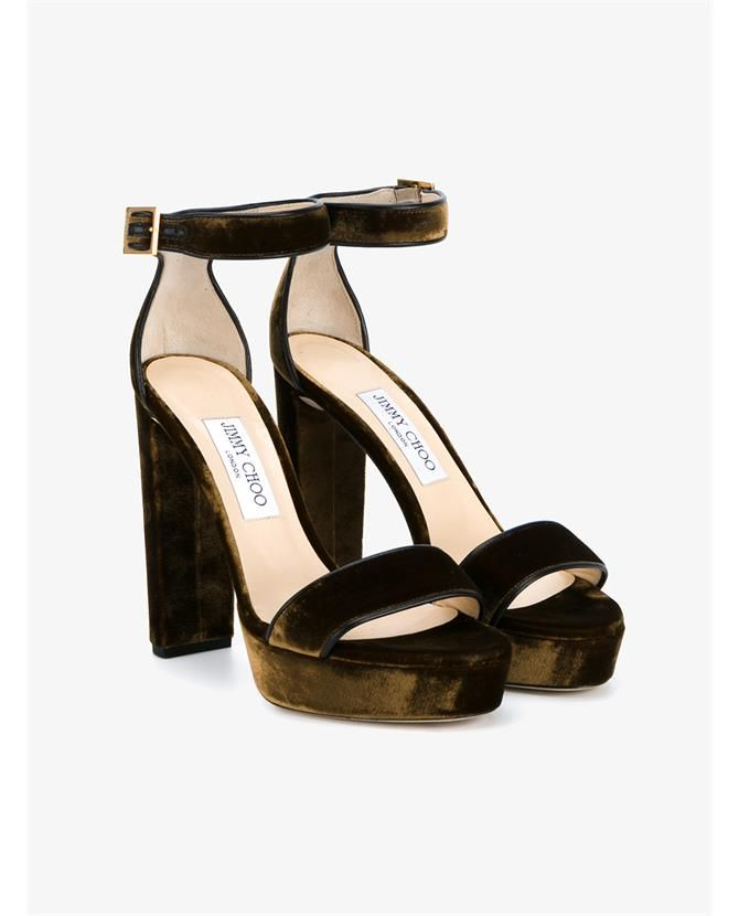 2f4951786a8 JIMMY CHOO Holly 120 Velvet Sandals.  jimmychoo  shoes  sandals ...
