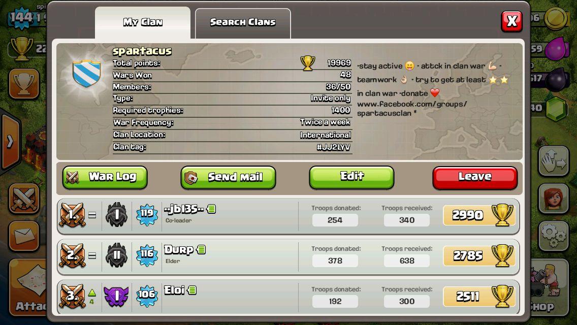 Spartacus best clan ever | Clash of clan | Clash of clans