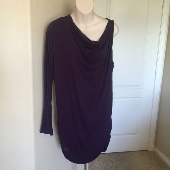 "♣️ MICHAEL STARS one sleeve asymmetrical dress OS This is a gorgeous Michael stars one armed asymmetrical dress. One size fits most. Eggplant made of 95% rayon 5% spandex. Worn once.  All items are from a clean, smoke free home  We ❤️ offers but will only be considered by using the ""OFFER"" option  Trades  Modeling Michael Stars Dresses Asymmetrical"