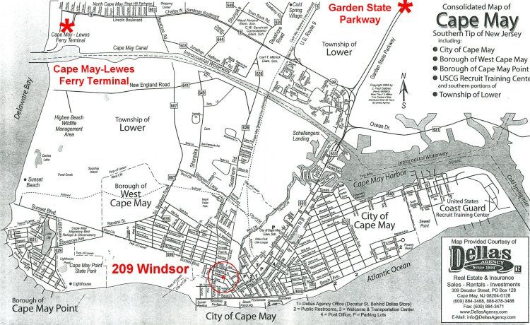 Pin by Maria McLeod on s   Cape may, New jersey, Cape may hotels Cape May Hotel Map on