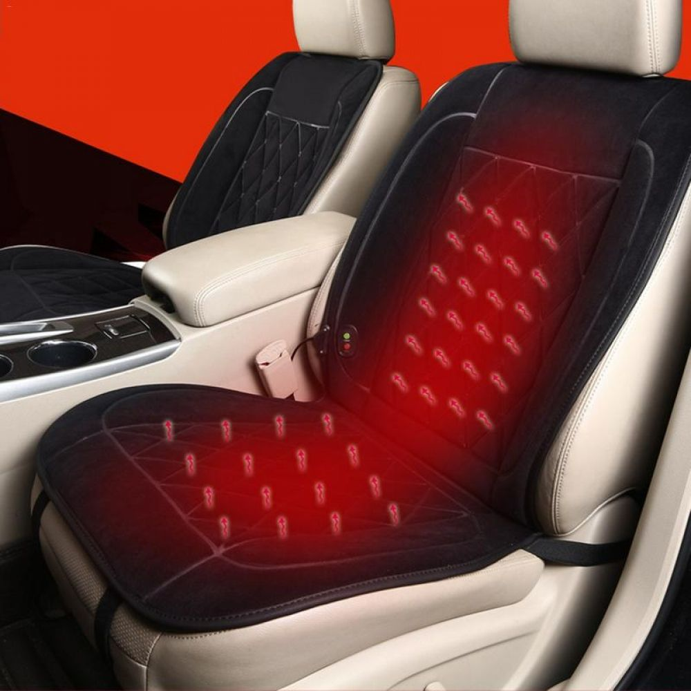 New Portable Quick Heat Thickening Heated Car Seat Warmer Heater Cushion Cover Mat Carpet Pad Heating Massage Car Accessor Car Seats Car Carpet Padding