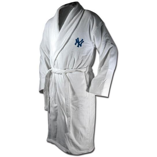 New York Yankees Terrycloth Bathrobe - White  53bc79849