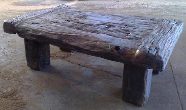 Gentil Rough Wood Sleeper Coffee Table.