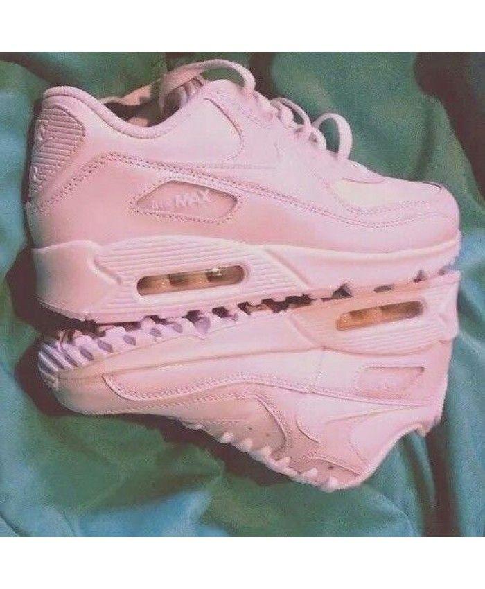 Nike Air Max 90 Alle Matte Poeder Dames Sneakers Hete ...