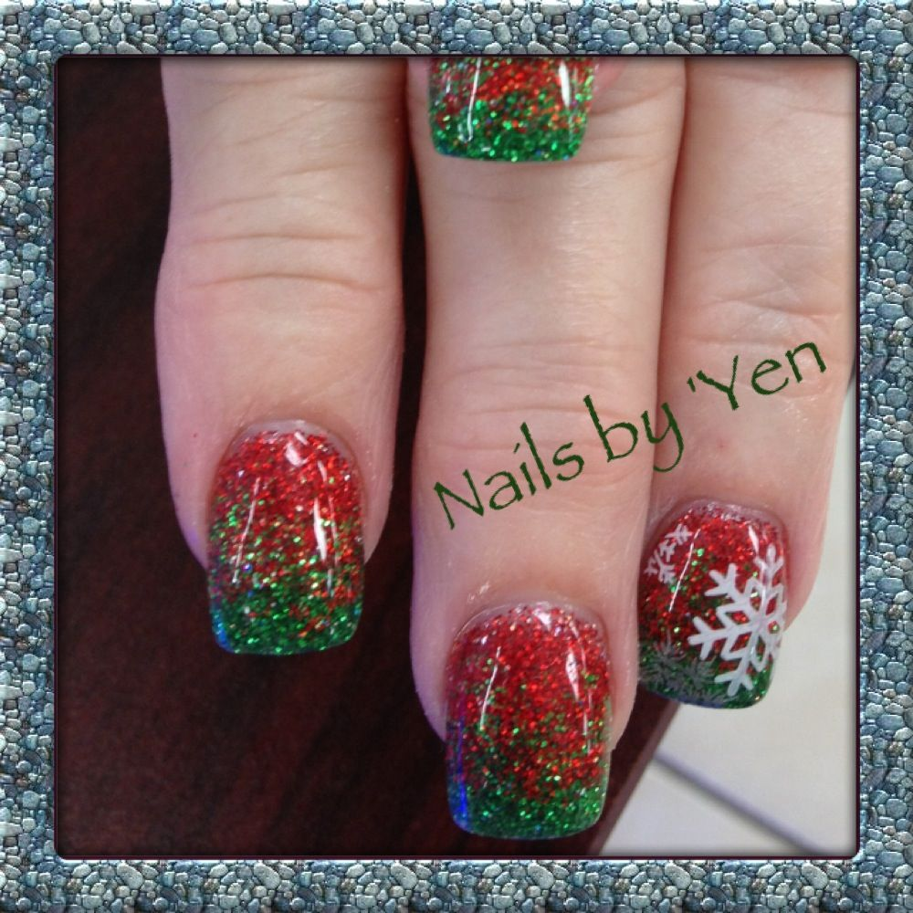 Christmas, Red and Green Gradient