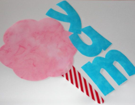 Pdf Applique TEMPLATE Pattern OnlyCotton Candy With by etsykim, $1.50