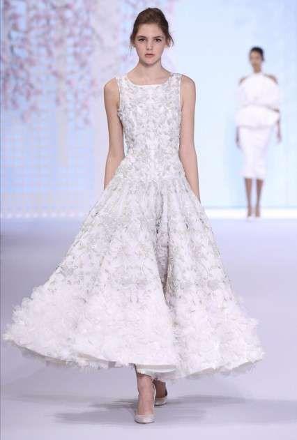 1bd20370893c Vestiti da sposa Haute Couture Primavera-Estate 2016 - Abito da sposa ampio  Ralph   Russo