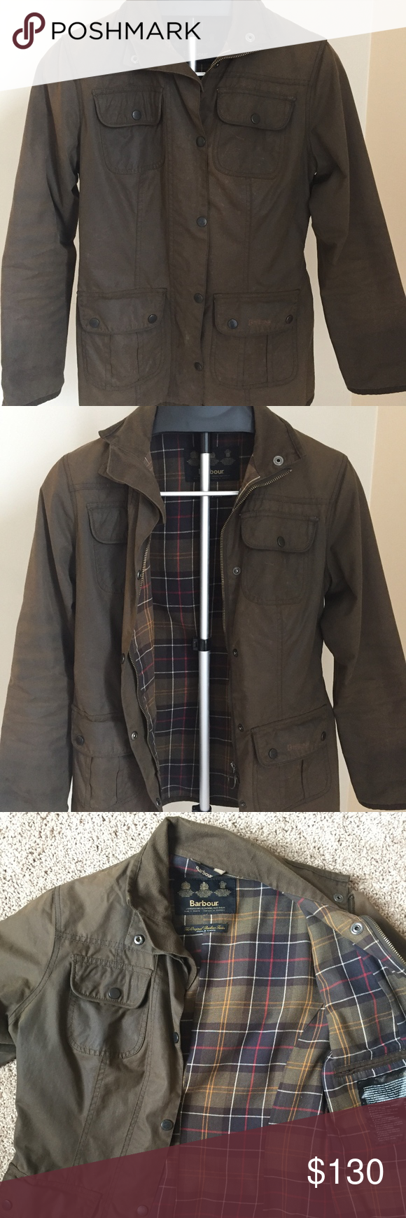 Barbour Tartans Womens Utility Jacket Size 8 Womens