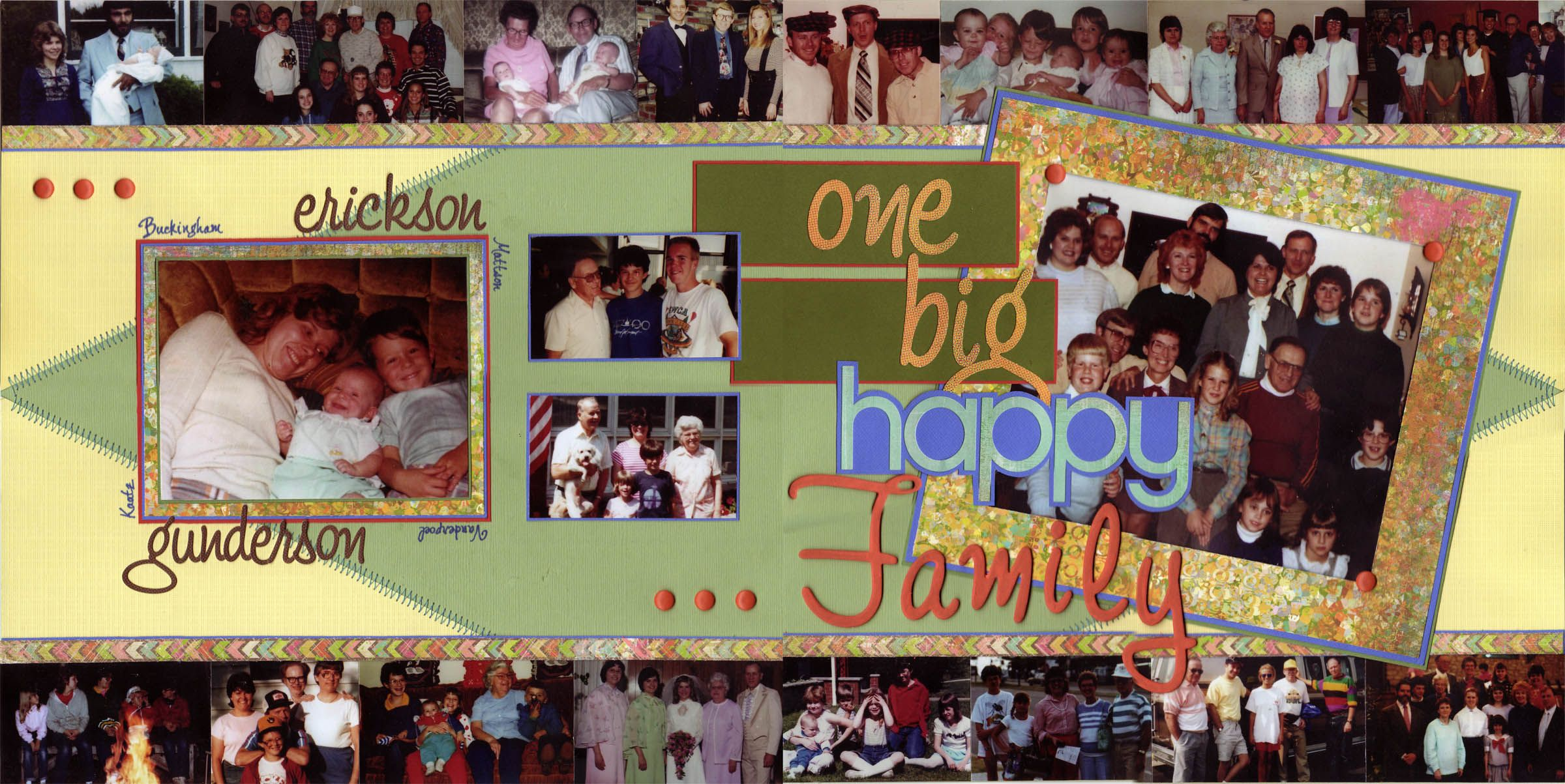 One Big Happy Family Scrapbook Layout From The Anniversary Book